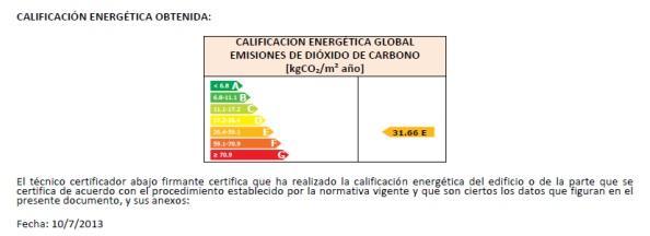 Ejemplo de certificado energetico